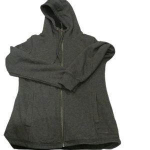 Wind River Heather Gray fleece & Sherpa jacket